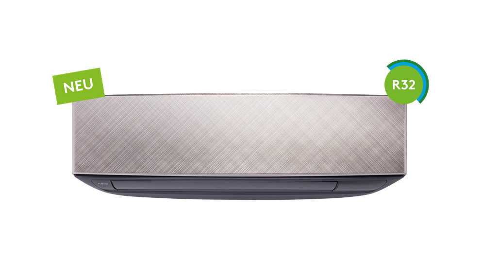 Fujitsu ASYG KETA - Design-Wandmodell eco, silber-grau
